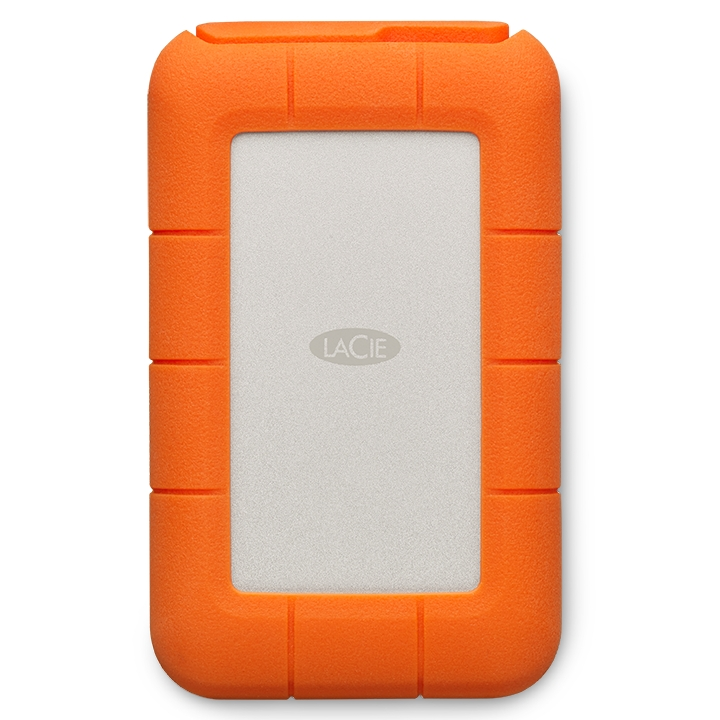 LACIE Rugged Thunderbolt USB C 외장하드 + 케이스 STFS4000800, 4TB, Silver