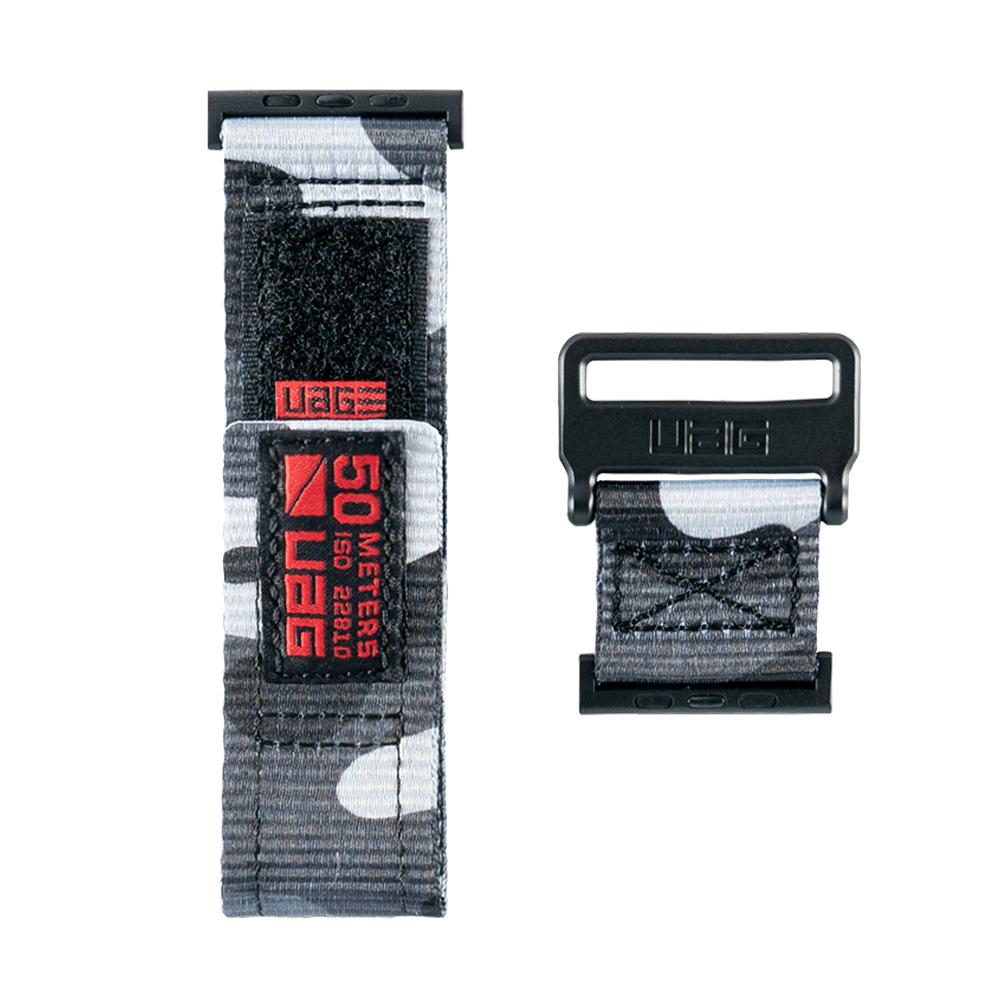 유에이지 애플워치3/4/5/6/SE 엑티브 스트랩 (42/44mm 호환 가능), 카모, 1개