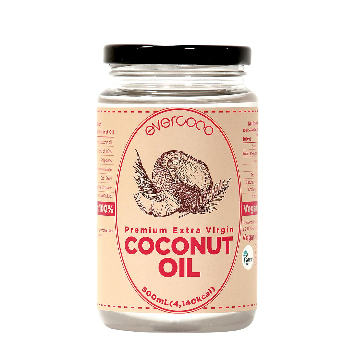 에버코코 프리미엄 엑스트라버진 코코넛오일, 500ml, 1개