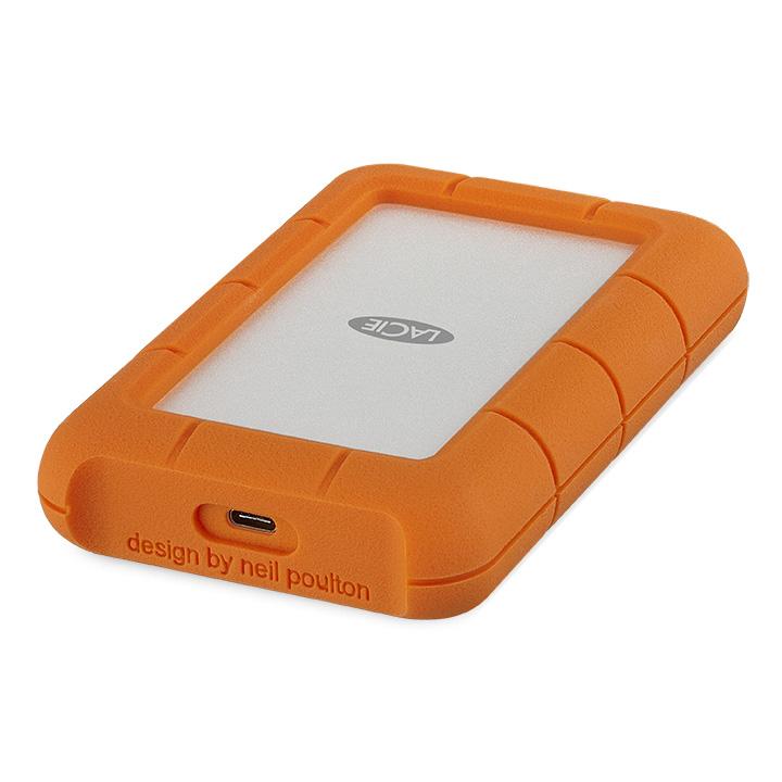 LACIE Rugged Secure USB C 외장하드 + 케이스 STFR2000403, 2TB, Silver