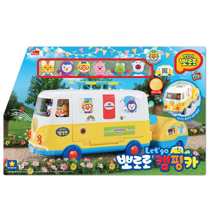 뽀로로 렛츠고 캠핑카 장난감 자동차, 혼합 색상