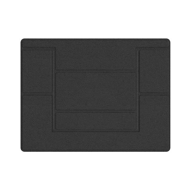 플럭스 일체형 부착식 노트북 거치대, 블랙