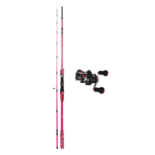 해동 콤보 낚시 세트 펑키투나잇 낚싯대 C165XL + KW150 BLACK 우핸들 베이트릴, 핑크
