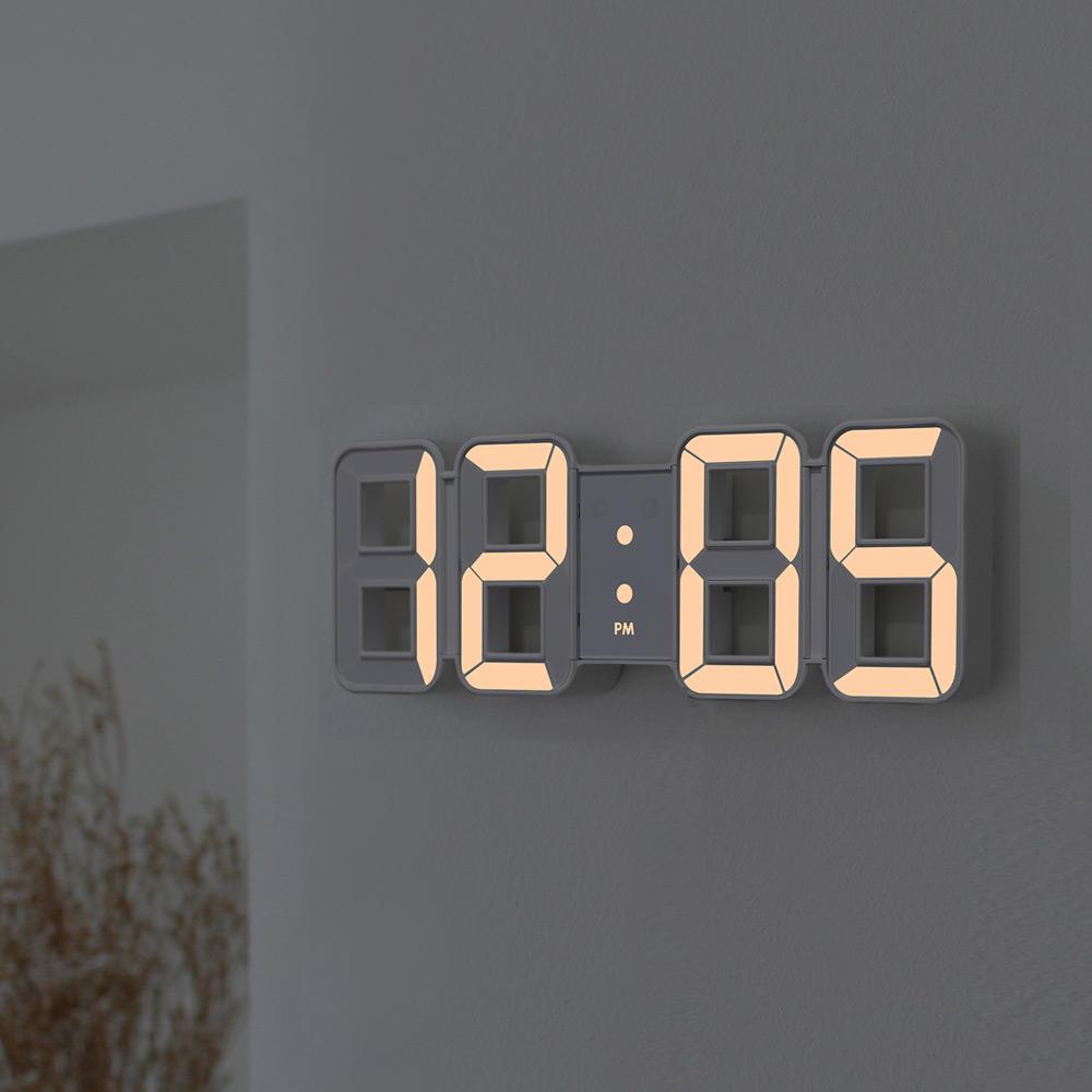 무아스 퓨어 화이트골드 미니 LED 시계, 단일 색상