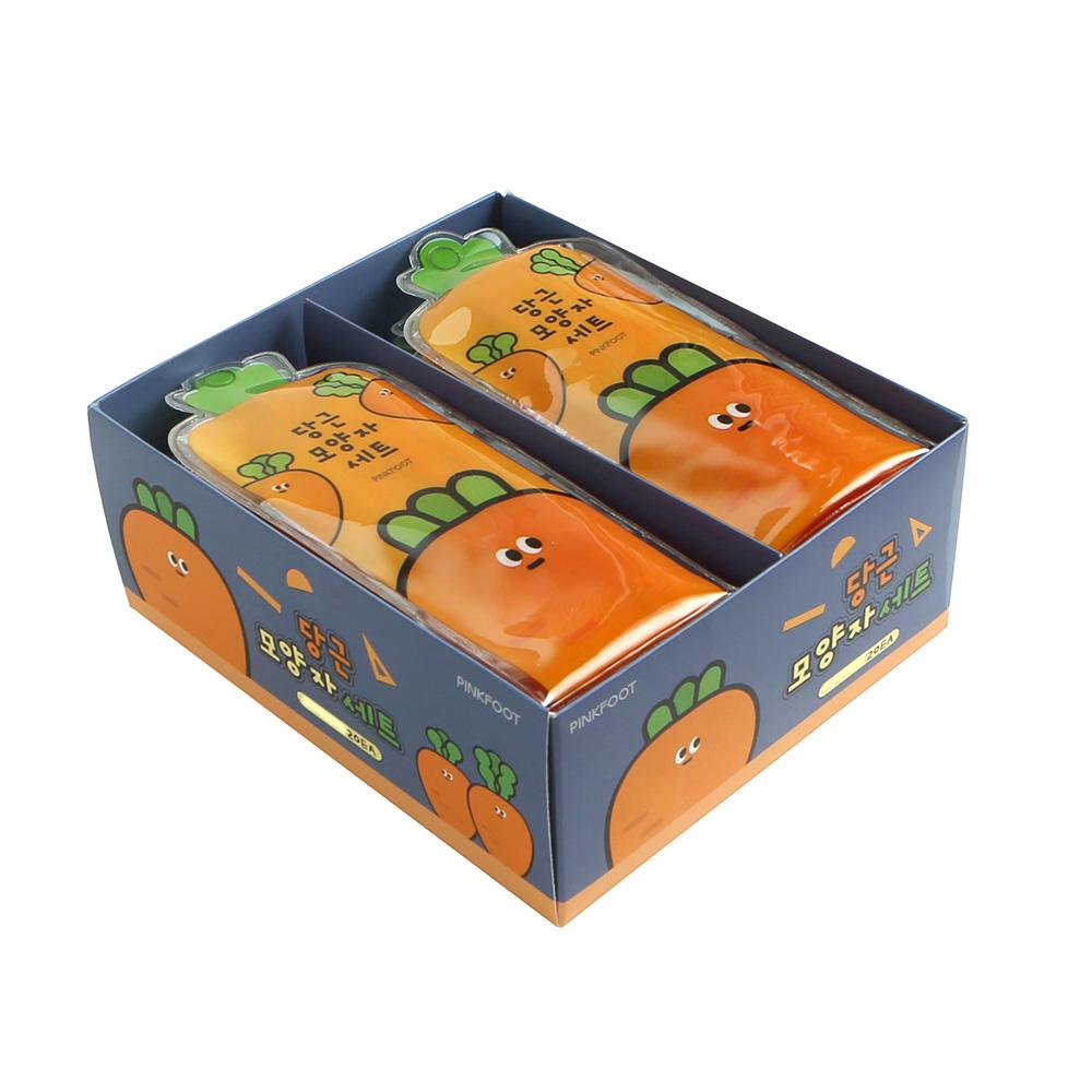 핑크풋 당근모양 자 세트, 오렌지, 20세트 (POP 242485630)