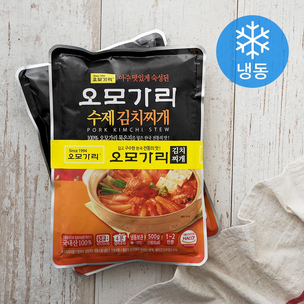 오모가리 수제 김치찌개 (냉동), 500g, 2개