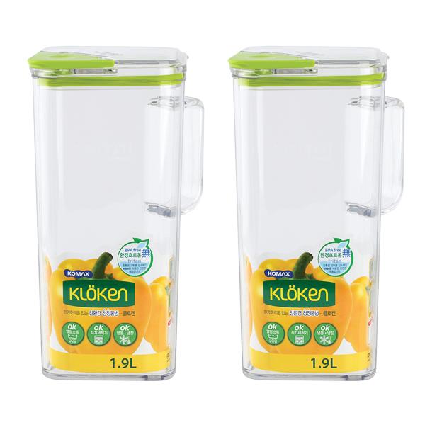 코멕스 청정물병 2p, Green, 1.9L