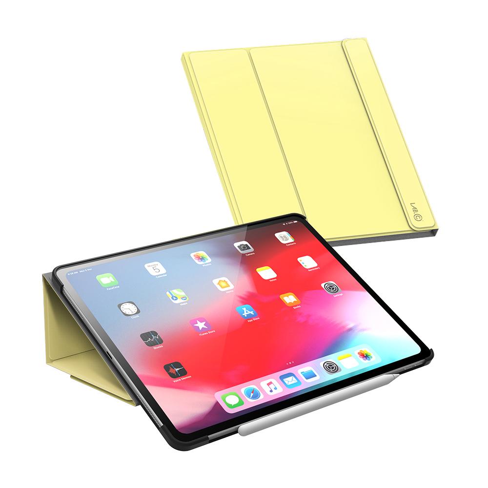 랩씨 태블릿PC 마카롱 스마트커버 케이스, 레몬