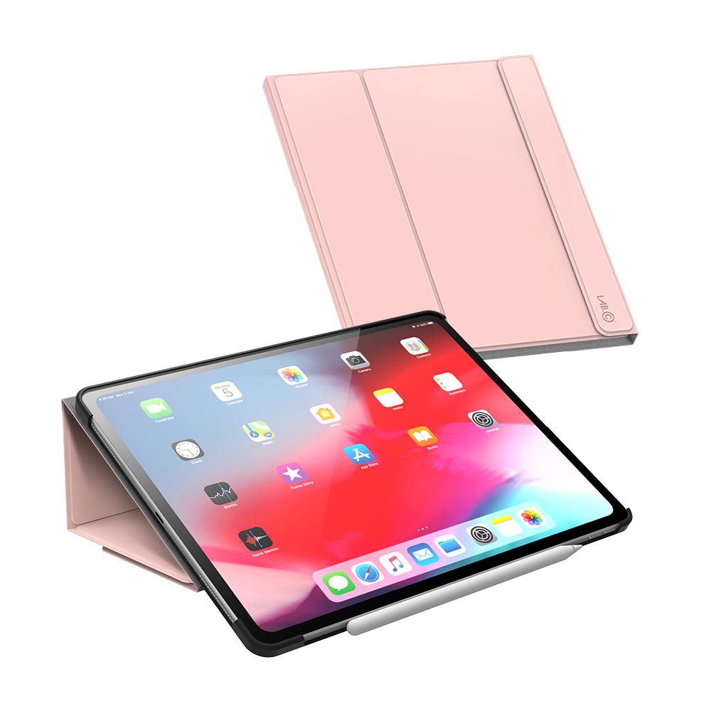 랩씨 태블릿PC 마카롱 스마트커버 케이스, 핑크샌드
