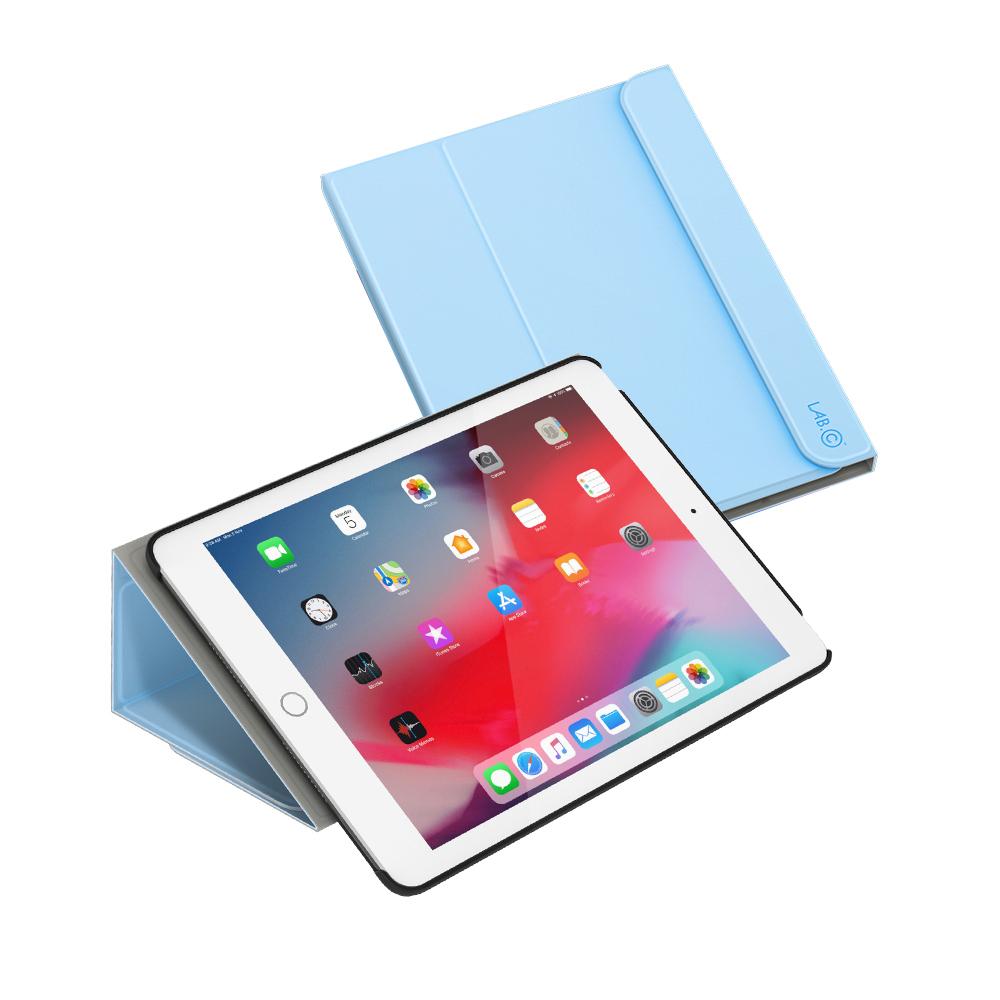 랩씨 태블릿PC 마카롱 스마트커버 케이스, 파스텔 블루