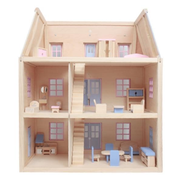 멜리사앤더그 원목 인형의 집 세트 + 공구 MD4588, 혼합 색상