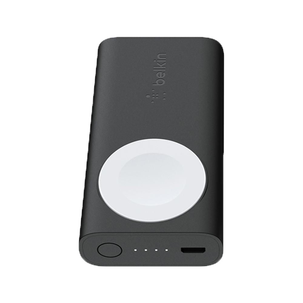 벨킨 애플워치 휴대용 무선 충전 미니 보조배터리 2200mAh F8J233, 블랙, 1개
