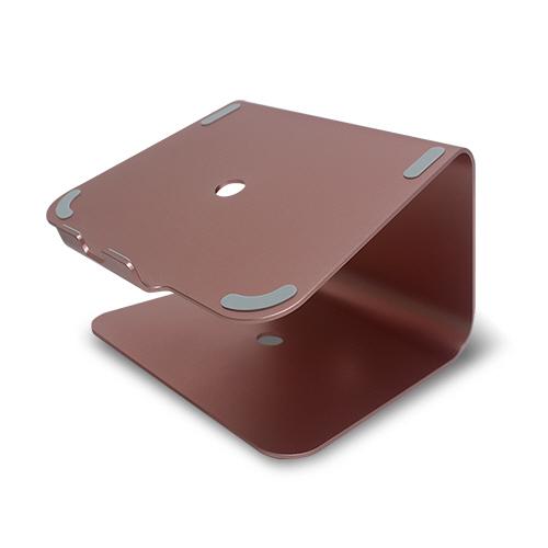 알파카 알루미늄 노트북거치대, 로즈골드