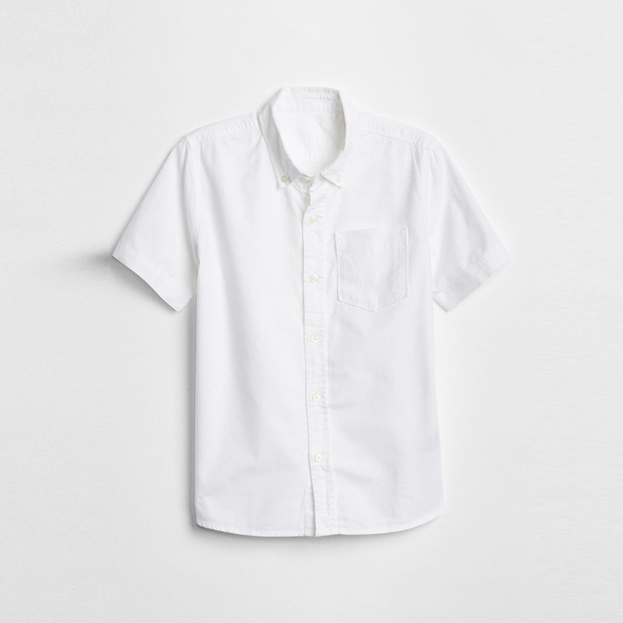 갭 남아 유니폼 옥스포드 반팔 셔츠