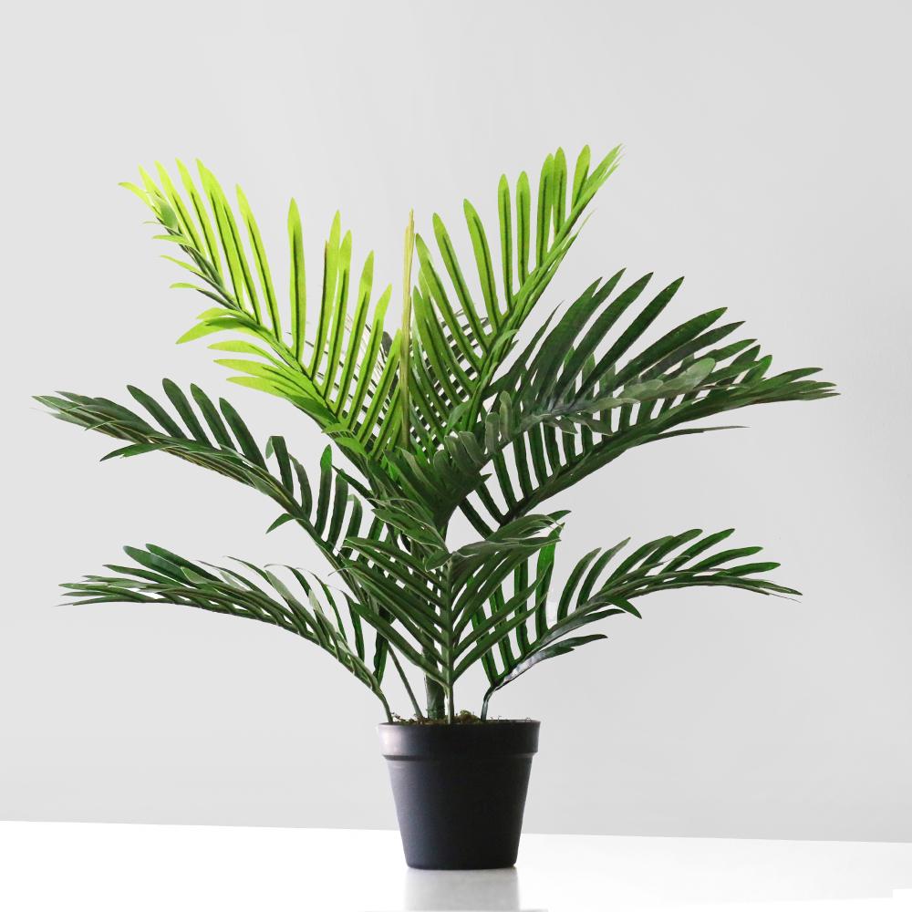 블루밍앤미 아레카 야자 인테리어 조화 나무 화분 60cm, 혼합 색상, 1개
