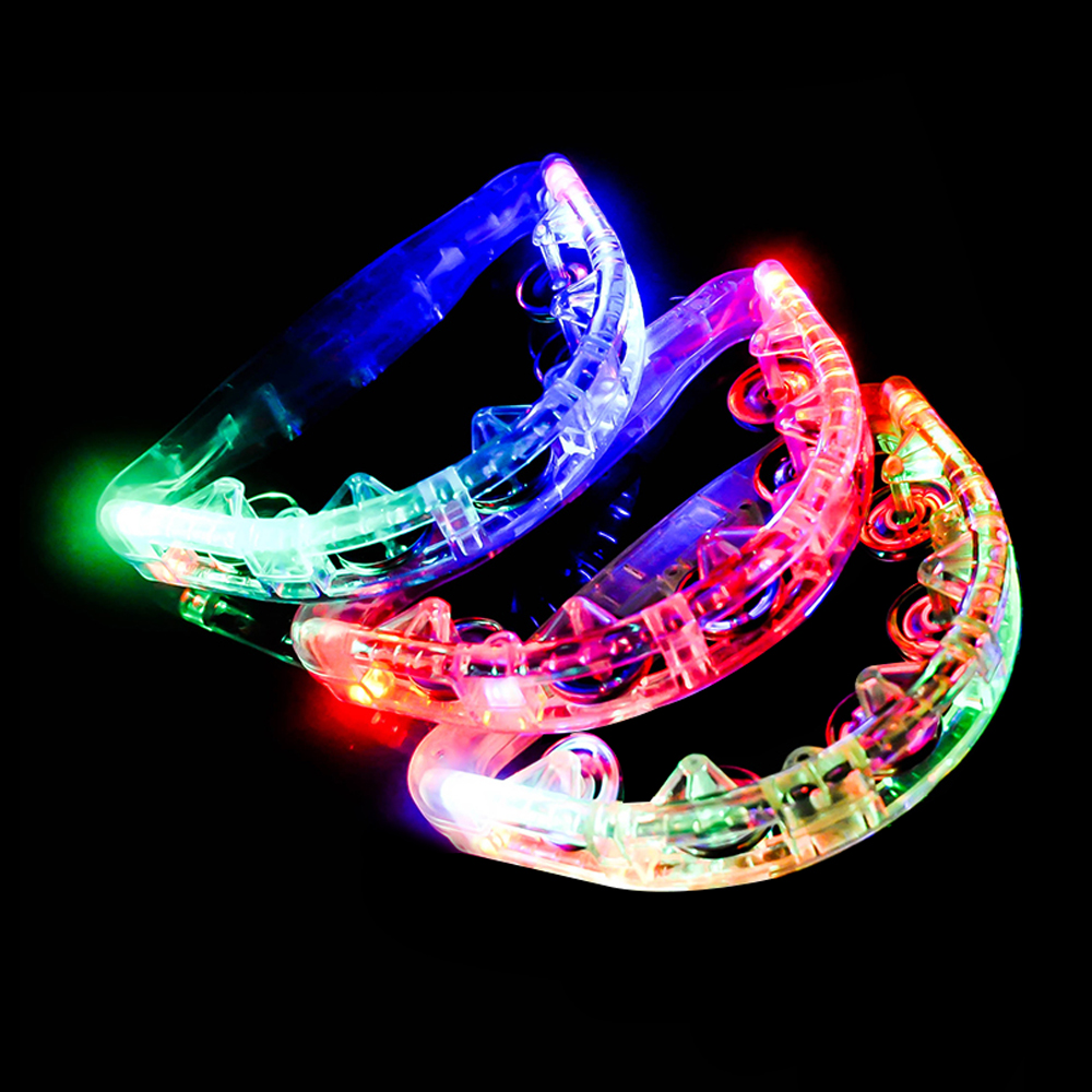 파티쇼 노래방 LED 탬버린 22cm, 랜덤 발송, 3개입
