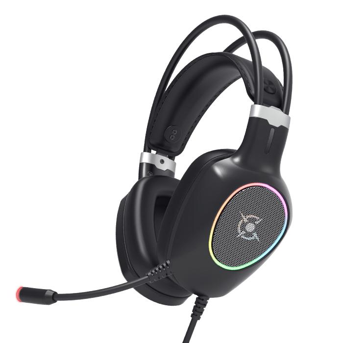 콕스 가상 71 초경량 진동 RGB 노이즈 캔슬링 게이밍 헤드셋 CH55 혼합 색상