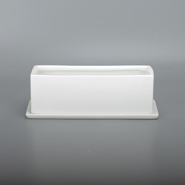 가꾸지오 무광택직사각 화분 3010SM, 화이트