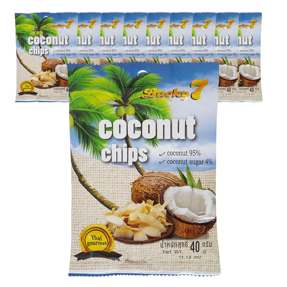 럭키 세븐 코코넛칩, 40g, 10개