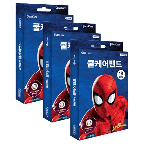 마블 스파이더맨 썸머키즈 쿨케어겔밴드, 3개