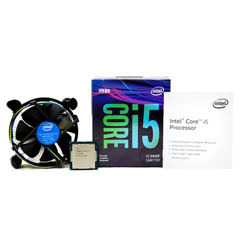 인텔 코어 i5-9400F 프로세서 커피레이크 리프레시 CPU, 단일 상품