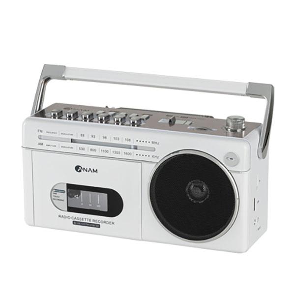아남 블루투스 라디오 카세트 플레이어, 화이트, PA-720BT