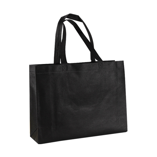 도나앤데코 리브 사각 부직포 쇼핑백 10p, 블랙