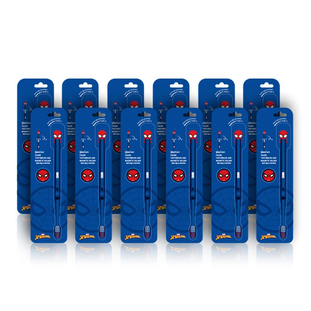 마블 스파이더맨 피규어칫솔 + 자석거치대, 1개입, 12개