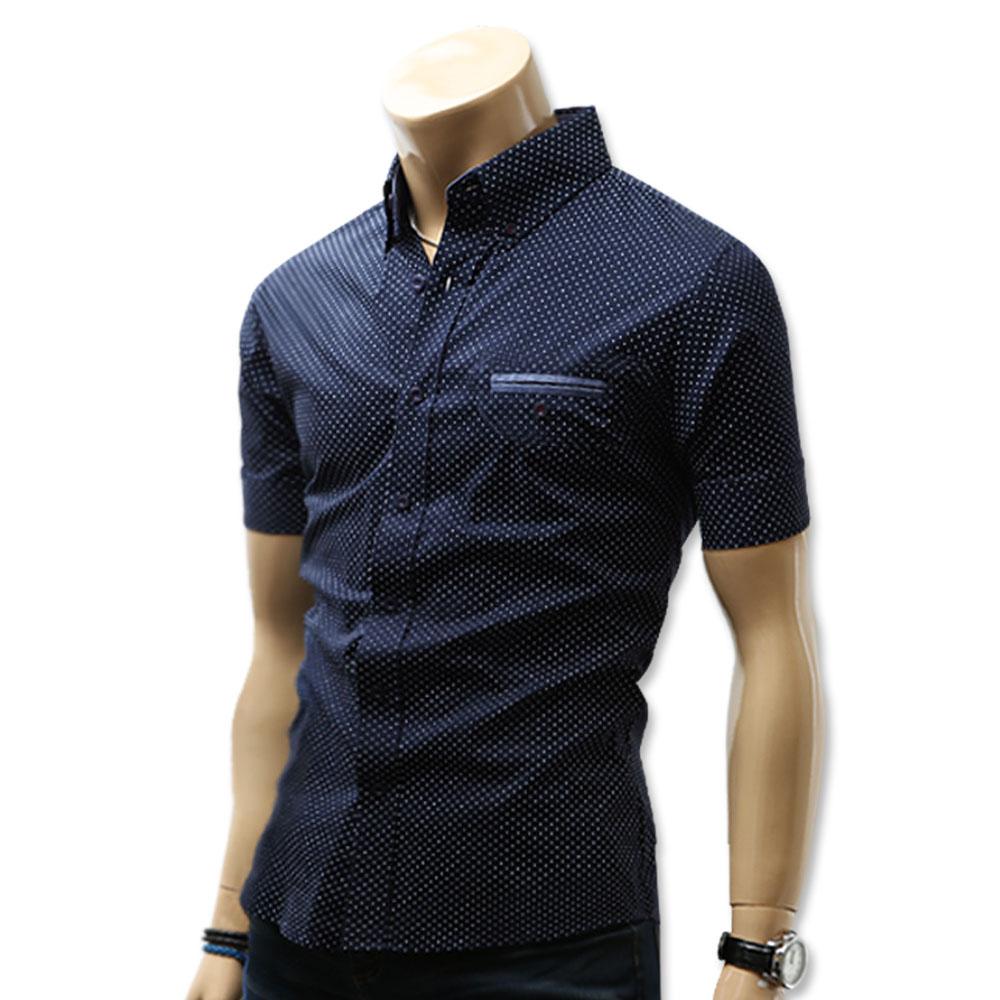 블루포스 남성용 토딘 스판 반팔 남방 셔츠