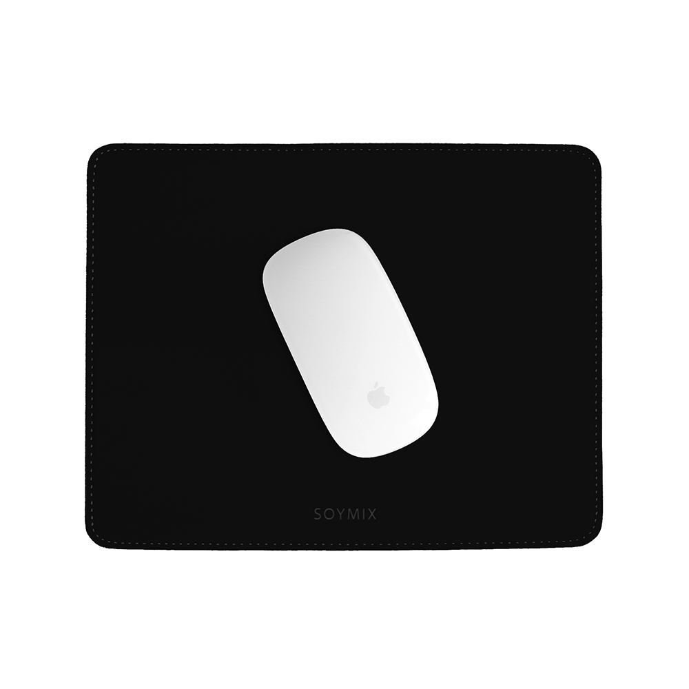 소이믹스 가죽 마우스패드 스퀘어 SOL5S, 블랙, 1개