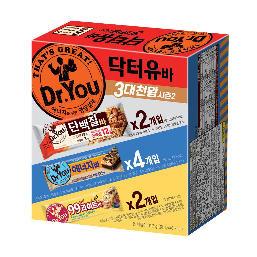 오리온 닥터유 바 3대천왕 시즌2 312g, 1세트