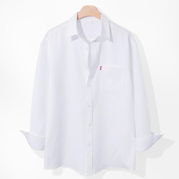 제이에이치스타일 남성용 리얼 무지 긴팔 셔츠