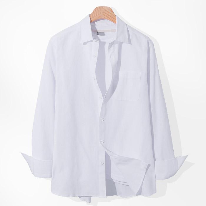 제이에이치스타일 남성용 베이직 옥스포드 긴팔 셔츠