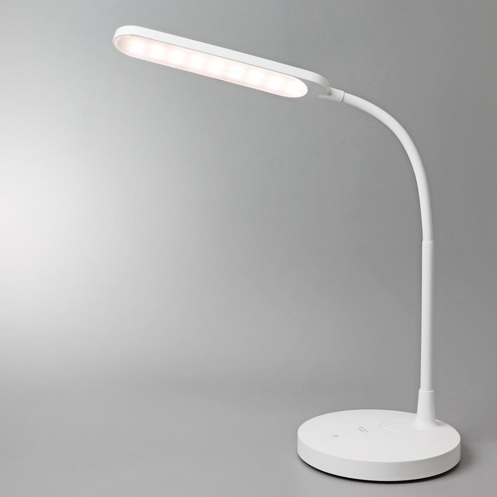 듀플렉스 충전식 무선 LED 데스크 스탠드 DP-8829LR, 화이트