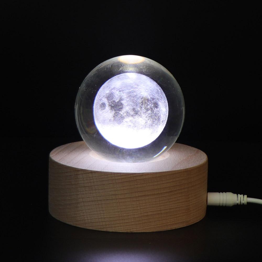 아트조이 LED 3D 크리스탈 구슬 무드등, 문라이즈