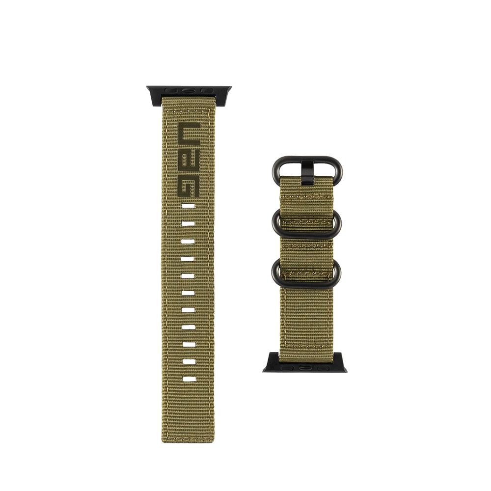 유에이지 애플워치3/4/5/6/SE 나토 스트랩 (42/44mm 호환 가능), 올리브, 1세트