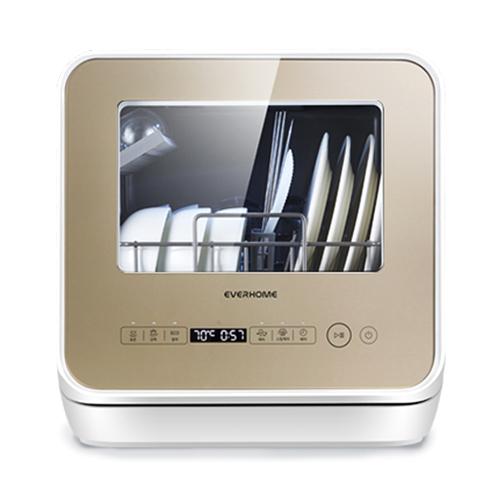에버홈 무설치 식기세척기 2~3인용 + 젖병 텀블러 거치대, WQP4-2601C(골드)