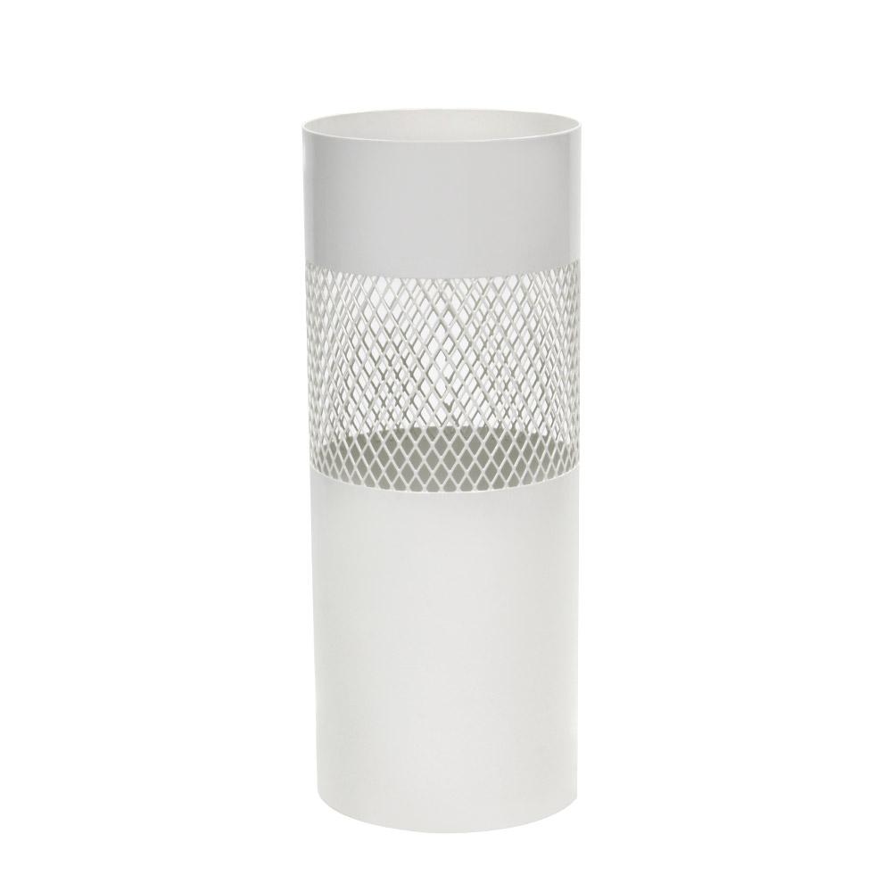 비스비바 메쉬 원형 철제 우산꽂이 화이트, 1개