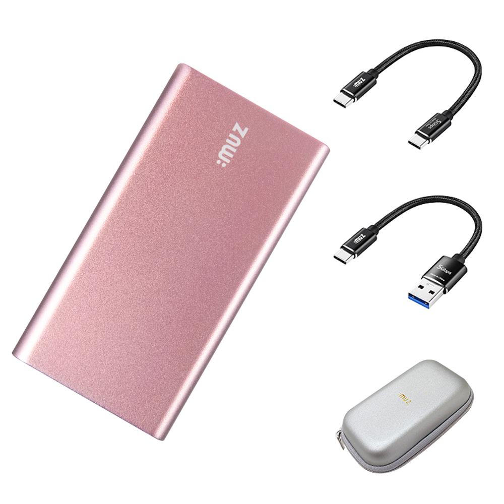 아이뮤즈 초미니 외장SSD PS10 + 파우치, 128GB, 로즈골드