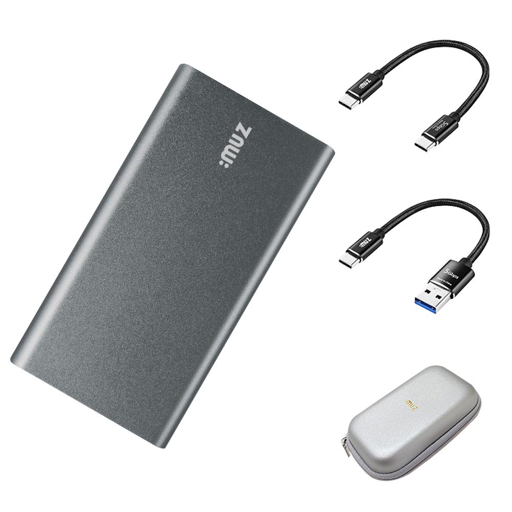아이뮤즈 초미니 외장SSD PS10 + 파우치, 256GB, 다크그레이