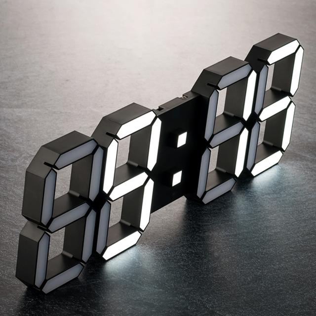 플라이토 3D LED 벽시계 시즌2 38.4cm, 블랙