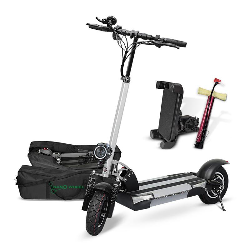 나노휠 전동킥보드 13Ah배터리 + 전용가방 + 휴대폰거치대 + 펌프, NQ-02 PLUS+, 그레이
