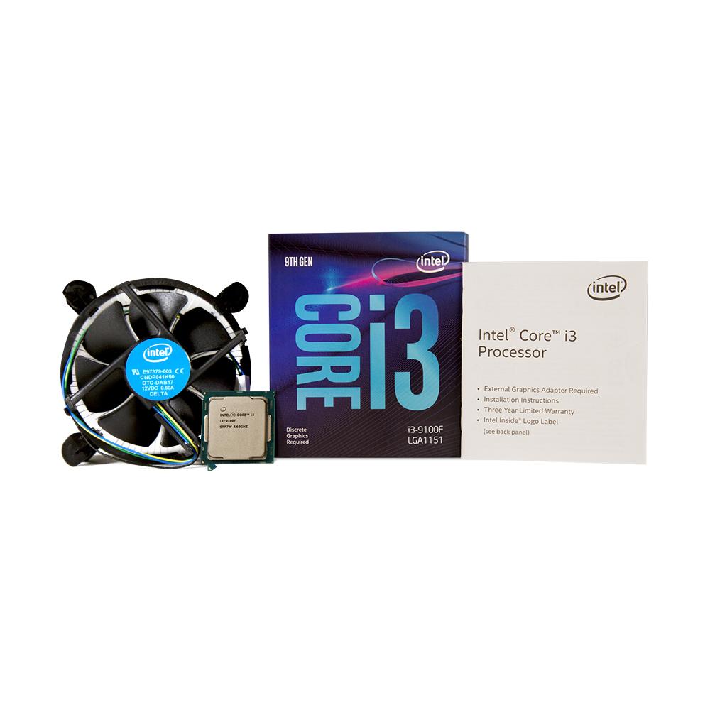 인텔 코어 i3-9세대 9100F 커피레이크 R CPU, 단일 상품