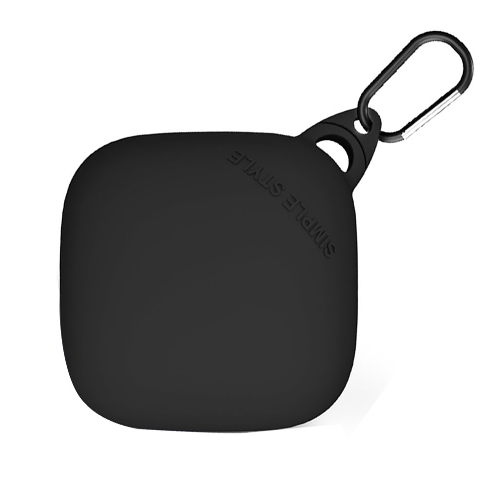 쵸미앤세븐 파워비츠 프로 실리콘 키링 이어폰 케이스, 단일 상품, 블랙