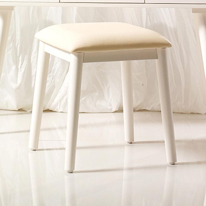 파로마 아그네스 원목도장 원형다리 의자, 크림화이트