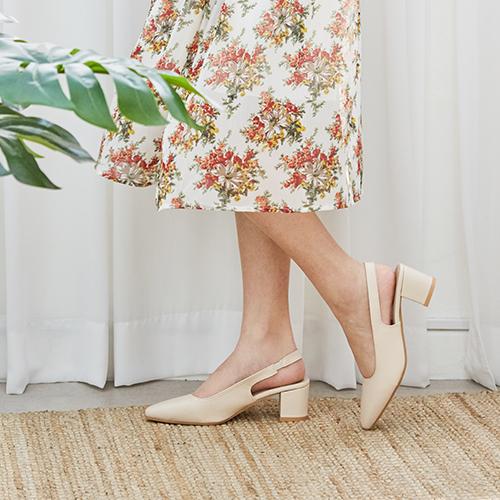 하루반 하브 여성 슬링백 구두 6cm