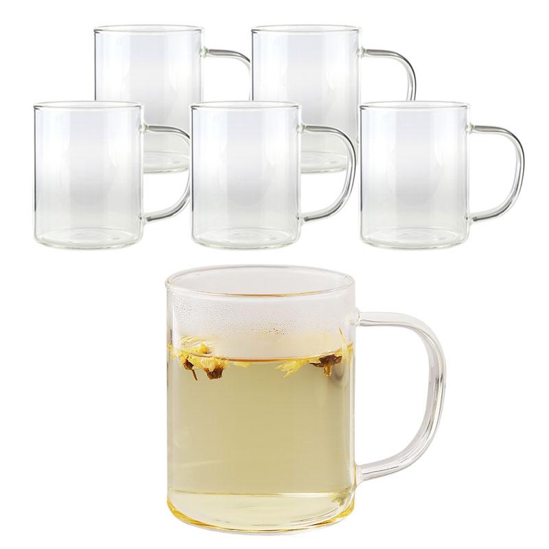삼호유리 내열유리 손잡이 유리 머그컵 420ml mug cup-3, 6개