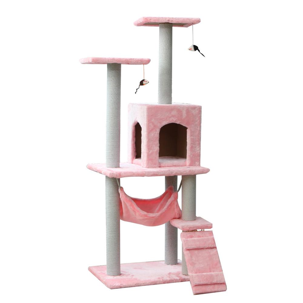 네츄럴프로 하늘정원 큐티 캣타워, 176 핑크, 1개