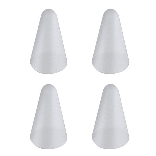 뷰씨 애플펜슬 케미꽂이 팁 펜촉 캡 보호 케이스, 투명화이트, 4개
