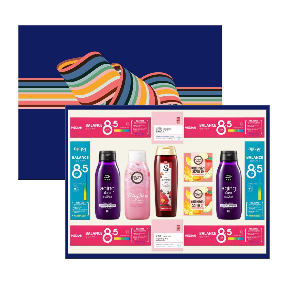 아모레퍼시픽 AP 종합 4호 바디케어 치약 선물세트 + 쇼핑백, 1세트